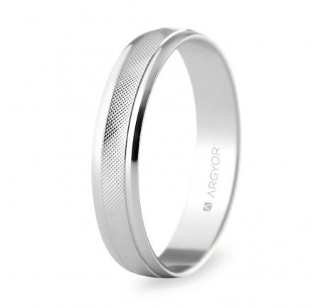 Aliança de casament or blanc 4 mm rombes (5B40501)
