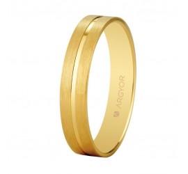 Aliança d'or plana mat satinada brillant 4mm (5140494)