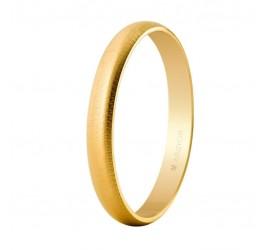 Aliança d'or clàssica mitja canya acabat texturitzat 3 mm (50305T)