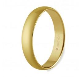 Alianza de boda oro media caña clásica 4mm (50405)