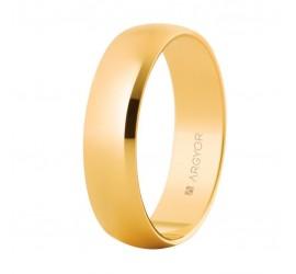 Alianza de boda de oro clásica media caña 5mm brillo (50505)