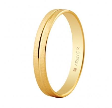 Aliança d'or bisellada textura-brillant 3 mm (5.130.474)