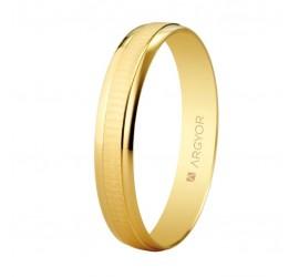 Alianza de boda de oro textura-brillo 3,5mm (5135495)