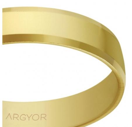 Aliança d'or plana acabat brillant bisellada 4 mm (5140047)