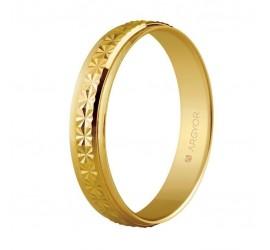 Alianza de boda oro facetado diamantado 4mm (5140108)