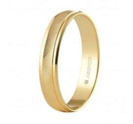 Alianza de boda oro rombos 4mm (5140501)