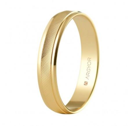 Aliança de casament or rombes 4mm (5140501)