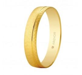 Alianza de boda oro textura-brillo ranurada 4,5mm (5145473)