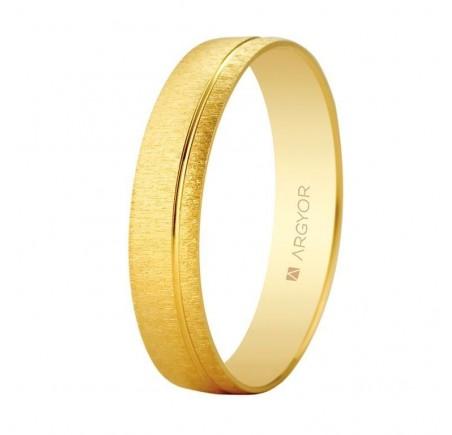 Aliança de casament or textura-brillant ranurada 4,5mm (5145473)