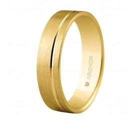 Alianza de boda oro plana de 5mm confort (5150316)