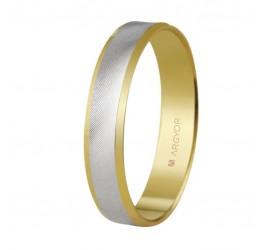 Alianza de boda bicolor dos oros 4mm (5240308)