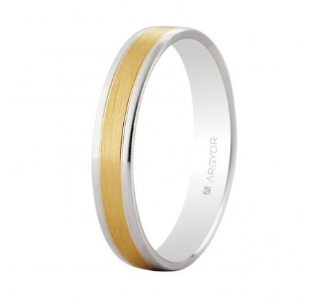 Alianza de boda bicolor oro 3,6mm (5240497)