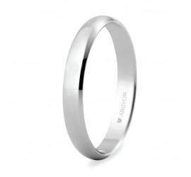 Alianza de boda oro blanco 3mm (5B305)