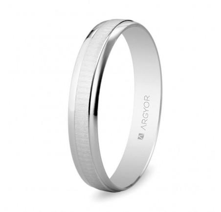 Aliança de casament d'or blanc 3,5 mm (5B35495)